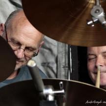 Bruno & René conspiring to produce some hot beats