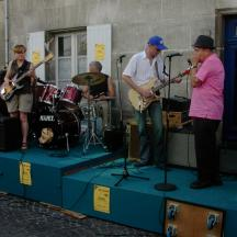 XO Cognac Blues Jam: Sue and Pete Boulter take the stage in 2005.