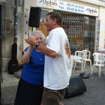 René working his charm and learning the Blues Waltz